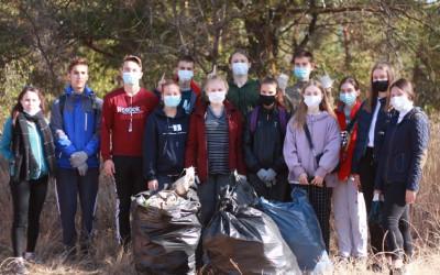 Волонтерский отряд «Улыбка» провел акцию «Лесная зона»