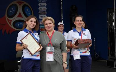Волгоградских городских волонтеров поблагодарили за помощь в проведении Чемпионата мира по футболу FIFA 2018 в России™