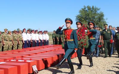 В Волгоградской области перезахоронили останки защитников Сталинграда